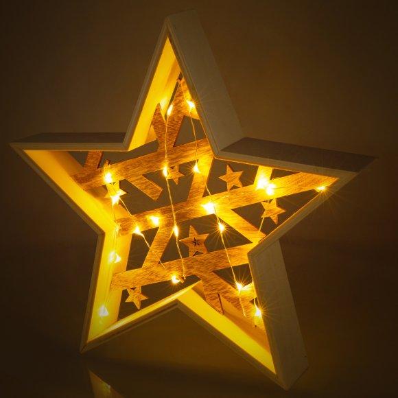RXL 312 hvězda dřevěná 20LED WW RETLUX