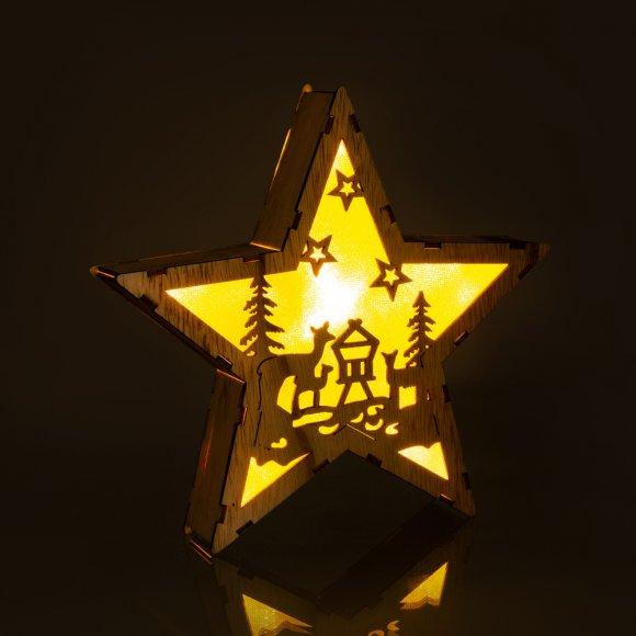 RXL 321 hvězda dř. srny 6LED WW RETLUX