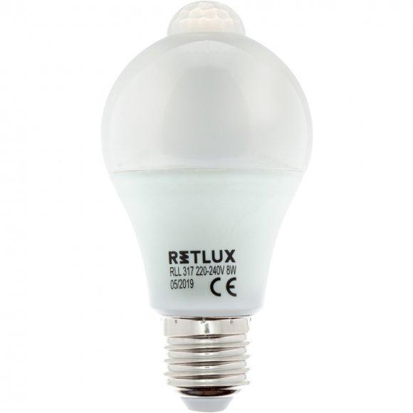 RLL 317 A60 E27 PIR žárovka 8WWW RETLUX